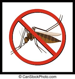 Sign of no mosquito