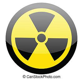 Sign of radiation on white