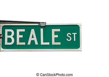 Beale street - Sign of the famous Beale street with blues...