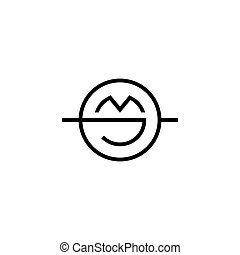 Sign of the letter J and M. Vector Illustration - Branding...
