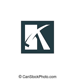 Sign of the letter K - Branding identity corporate logo...