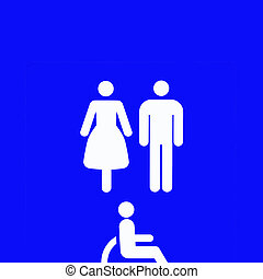 sign of the restroom
