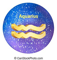 Sign of the zodiac Aquarius
