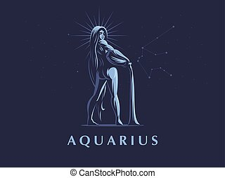 Sign of the zodiac Aquarius.