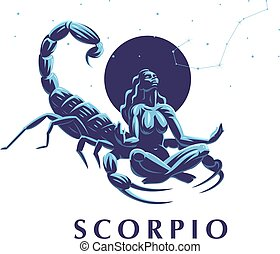 Sign of the zodiac Scorpio. Constellation of the Scorpion.