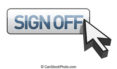 sign off button illustration design