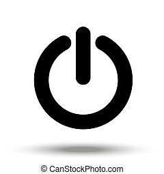 Sign on-off, in a simple style on the white isolated background.