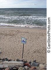 Sign on the beach