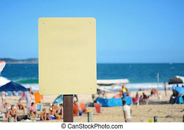Sign on the beach.