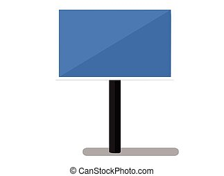 sign panel silhouette on white background