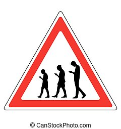 sign people with a smartphone