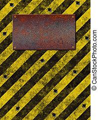 sign plaque bulletholes