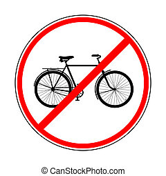 sign prohibiting bicycles