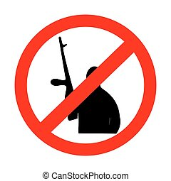 sign prohibiting terrorism