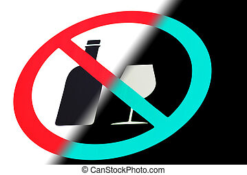 Sign prohibition of alcohol