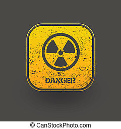 Sign radiation icon. Vector eps10