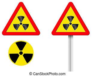 sign radiation - token of raised radiation. A computer...