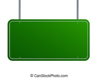 sign road green blank vector