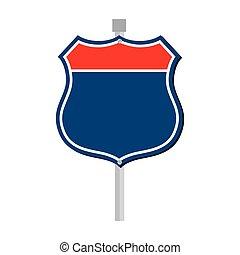 sign road roadside icon vector