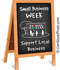 Sign, Small Business Week Easel