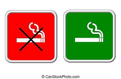 sign smoking allowed forbidden