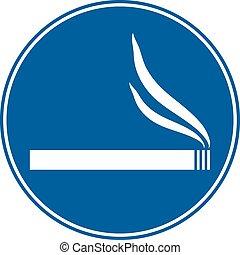 Sign smoking allowed