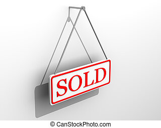 """Sign \""""sold\"""""""