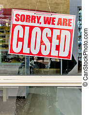 sign sorry we are closed