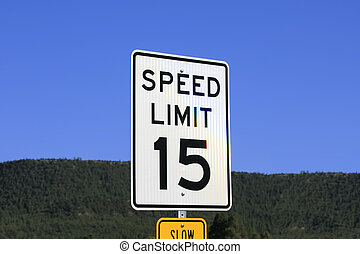 Sign Speed Limit 15
