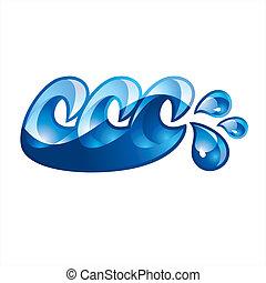 Sign Splash Wave