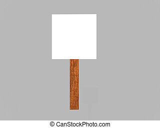 Sign - Isolated blank sign
