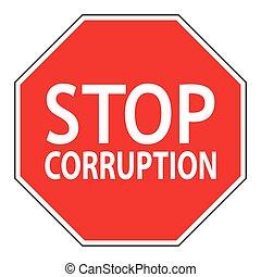 Sign stop corruption
