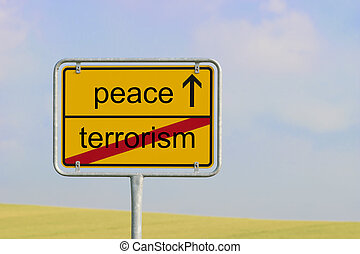 Sign terrorism peace