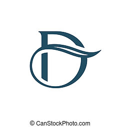 Sign the letter D - Branding identity corporate logo...