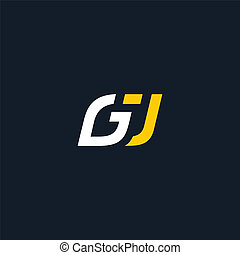 Sign the letter G and J - monogram of the letters G and J...