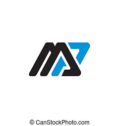 Sign the letter M and P - Branding identity corporate sign...