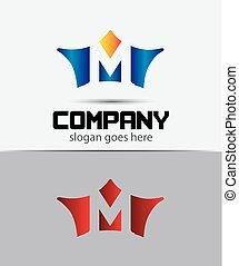 Sign the letter M Branding Identity