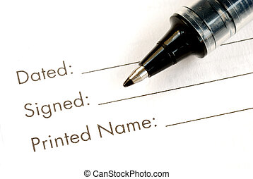 Sign the name on the legal document