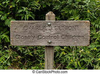 Sign to Charlies Bunion in the Smokies
