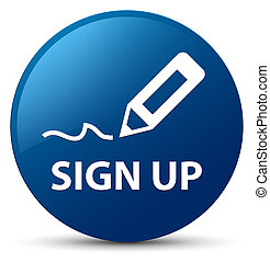 Sign up blue round button