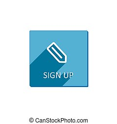 Sign up button, flat