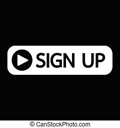 sign up button icon illustration design