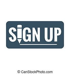 sign up button icon
