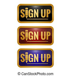sign up button icons