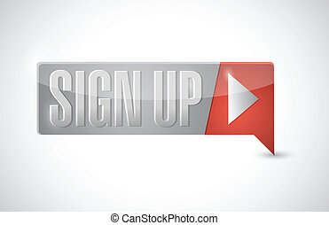 sign up button illustration design