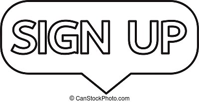 Sign up  button sign design
