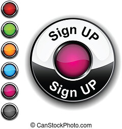 Sign up button.
