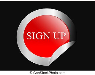 sign up, button