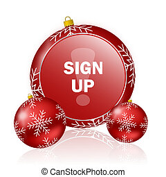 sign up christmas icon