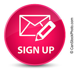 Sign up (edit mail icon) elegant pink round button